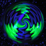 UV Pinwheel 2  Size: 1.64  Price: SOLD