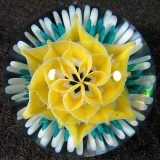 Yellow Flower See-Through  Size: 1.15  Price: SOLD