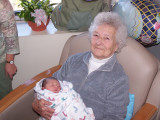 Great Meemaw Alice with Kelsey