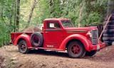 1949 Diamond T Pickup hauling fill dirt