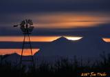 Moonrise behind Mt. Rainier