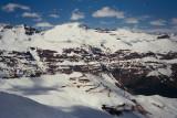 Skiing near Santiago