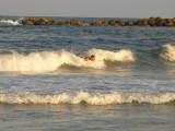 Body surfing the Mediterranean