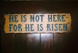 The Garden Tomb--He is not here