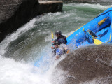 Cherry Creek--Mark and Aaron take on the first drop at Flat Rock Falls