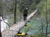 Long, Sketchy Bridge Over the South Fork of the Trinity