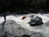 Ghostboating at Panther Creek Rapid on the South Trinity