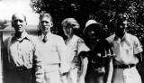 Shown above is the Ed Coatney Family around 1930. Shown left to right are: Ed, George Robert, Ida Virginia, Ethel Elizabeth & William Edward Coatney.