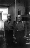 This shot was taken in Nowata Oklahoma around 1950, & shows Edward with his brother Norris. This picture was given to me by Lorene Coatney.
