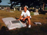 Edward Ernest Coatney died in Falls City, Richardson County Nebraska on 13 November 1957. This is a picture of me at his gravestone. He is buried in Steele Cemetery, Falls City Nebraska.