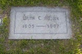 Wilma Lucille Coatney was the second child of four born to Edward Ernest Coatney & his wife Ida Virginia Banner. On 29 December 1925 in Falls City, Richardson County Nebraska, she married John Almond Amsler. Both she & my uncle John are buried in Lincoln Memorial Park, Lincoln, Lancaster County Nebraska.