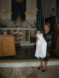 Nonna with Angelica at the Immacolata church in Scauri