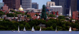 Beacon Hill Panorama with Charles River and Sailboats