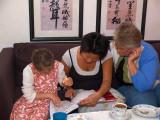 2007-09-15 Nicole reading - mom and grandmom listening
