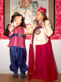 Oliver and Nicole in hanbok