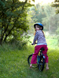 Nicole on bike