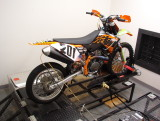 KTM 450SXF on Dyno for Air/Fuel Monitoring and Measuring HP