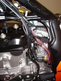 How to get to the carb parts?... Pull out on the hot start cable, if there is one to begin.