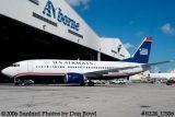 US Airways B737-33A N166AW in new US Airways paint scheme airline aviation stock photo #0228_US06