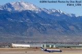 Skywest Airlines (United Express) Canadair CRJ-700 N730SK with Pike's Peak in the background airline aviation stock photo #2614