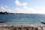 2007 - South side of Peanut Island County Park, Palm Beach on upper left, landscape stock photo #0764