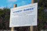 2007 - Kennedy Bunker sign at entrance to bomb shelter built for JFK stock photo #0891C