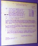 2007 - Seabees orders from 1961 for interior construction work at the Kennedy bomb shelter on Peanut Island stock photo #0893C