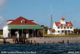 2007 - South view of former Coast Guard Station Lake Worth Inlet on Peanut Island landscape stock photo #0905