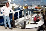 2007 - Captain Joe Montalbano of the Peanut Island Ferry stock photo #0912