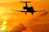 Bombardier Aerospace Corporation's Learjet 60 N245FX corporate aviation sunset stock photo #2957
