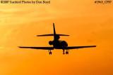 Vulcan Aggregates Company LLC's Dassault Mystere Falcon 50 N5322 corporate aviation sunset stock photo #2963