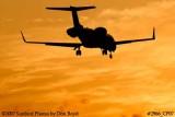 KMI Management LLC's Learjet 45 N858MK corporate aviation sunset stock photo #2966