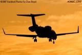KMI Management LLC's Learjet 45 N858MK corporate aviation sunset stock photo #2966C
