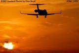 KMI Management LLC's Learjet 45 N858MK corporate aviation sunset stock photo #2967