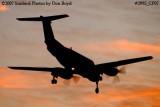 AirHerrig LLC's Beech Super King Air A-200 N637B corporate aviation sunset stock photo #2995