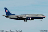 United Airlines Shuttle B737-322 N395UA airline aviation stock photo #7876