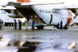 1992 - Coast Guard operations after Hurricane Andrew - HC-130H and relief supplies