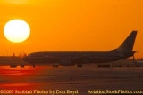 2007 - American Airlines B737-823 at sunset airline aviation stock photo #3088