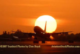 2007 - American Airlines B737-823 takeoff at sunset airline aviation stock photo #3090W
