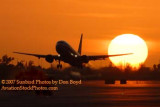 2007 - American Airlines B737-823 takeoff at sunset airline aviation stock photo #3091