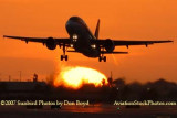 2007 - TAM Airbus A320-232 PR-MAP airline sunset aviation stock photo #3094