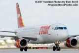 2007 - TAM Airbus A320-232 PR-MAP airline aviation stock photo #3038