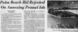 Early 1970's - Miami Herald Article on Palm Beach trying to annex Peanut Island