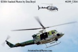 2004 - Miami-Dade Police and Fire helicopters looking for a drowning victim stock photo #0299