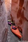 Our kayaks await the return trip