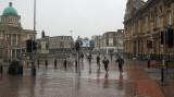 Hull City Centre in the rain 2