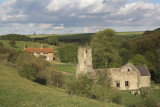 Wharram Percy - remains of a medieval village near Malton, North Yorkshire