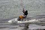 Kitesurfing at Chesil Beach Dorset