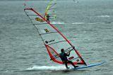 Windsurfing at Chesil Beach Dorset
