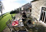Tea and scones at Lulworth Castle in Dorset
